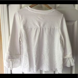 White summer top with lacy detail